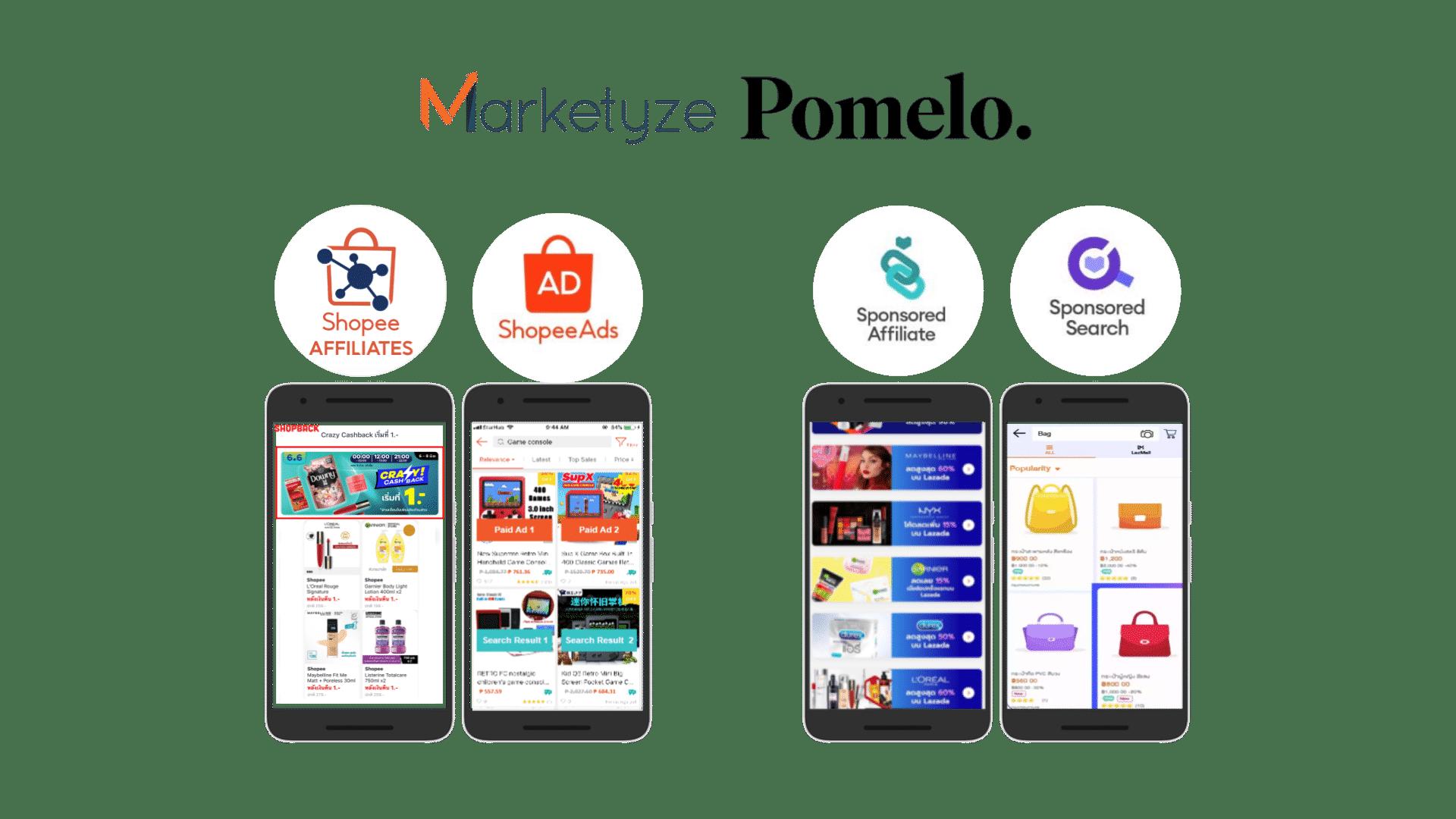 Pomelo platform ads - Shopee Ads, Lazada Ads